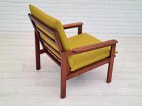 "Danish Design by Illum Wikkelsø Armchair ""Capella"" Series, 70s, Teak, Renovated-reupholstered (13 of 13)"