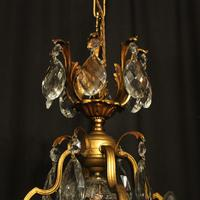 French Gilded Bronze & Crystal Chandelier (3 of 10)