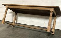 Bleached Oak Farmhouse Dining Table with Extensions (7 of 16)