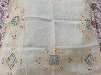2 Small Pieces of Antique European Linen, Italian Figural Reticella + 2nd in Madeira work. (2 of 7)