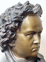 Classical Music Interest German Bronze Composer Ludwig Van Beethoven Bust Sculpture (13 of 25)