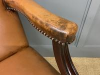 Leather Upholstered Gainsborough Armchair (12 of 12)