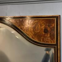 19th Century Ebonised & Burr Walnut Mirror (4 of 4)