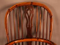 Good Yew Wood High Back Windsor Chair Rockley Maker (9 of 11)
