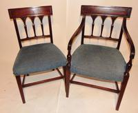 Set 6 Scottish Georgian Mahogany Dining Chairs (7 of 8)