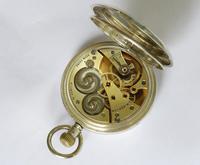 Silver Cyma Half Hunter Pocket Watch for J W Benson (5 of 5)