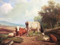 Fine Art English Oil Painting Cattle Cows & Sheep After Thomas Sidney Cooper (23 of 33)