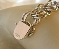 "Vintage Sterling Silver Bracelet 1950s Forstner Usa 7 1/2"" Length 38.2 Grams (9 of 11)"