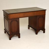 Georgian Style Mahogany Leather Top Pedestal Desk (8 of 10)