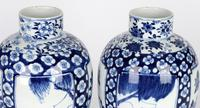 Chinese Pair of Large Blue & White Panel Vases with Figures Qing Dynasty (18 of 25)