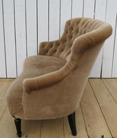 Antique French Napoleon III Button Back Sofa (3 of 9)