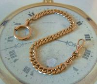 Antique Pocket Watch Chain 1890s French Victorian 14ct Rose Gold Filled Albert (4 of 12)