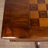 Rosewood Games Table Chess Board Folding Card Table 19th Century (10 of 16)