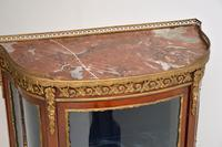 Antique French Mahogany & Marble Display Cabinet Vitrine (10 of 10)