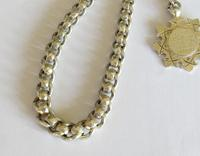 Unusual 1920s Silver Watch Chain & Fob (2 of 4)