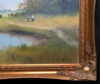 Lovely 'Chocolate Box Quality' Vintage 20thc English Landscape Oil Painting (4 of 15)