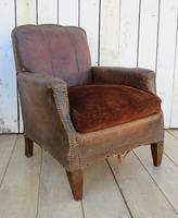 Pair of Antique French Leather Club Chairs (6 of 14)