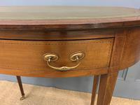 Edwardian Oval Inlaid Mahogany Writing Table (5 of 13)