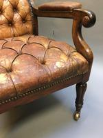 19th Century Rosewood Library Chair (5 of 10)