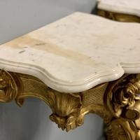 Pair of 19th Century French Gilt Console Pier Tables (3 of 13)