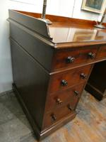 English Holland & Sons  Kneehole Desk (2 of 9)