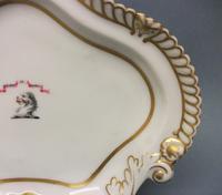 Chamberlain's Worcester Armorial Dessert Dish c.1820-1830 (4 of 6)