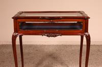 Small Mahogany Showcase Cabinet from Jeweler or Exhibition 19th Century (6 of 12)