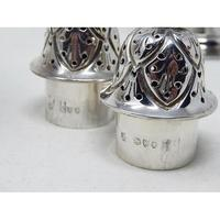 Pair of Ornate Heavy Victorian Hallmarked Silver Sugar Shakers (2 of 7)