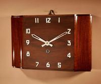 Stylish Walnut Art Deco Wall / Mantel Clock
