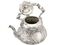 Sterling Silver Louis Spirit Kettle - Antique Victorian 1855 (6 of 18)