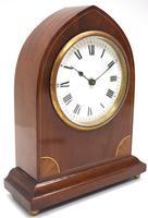 Impressive Thin Mahogany Edwardian Lancet Clock Timepiece Mantel Clock (2 of 11)