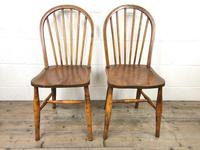 Pair of Antique Hoop Back Farmhouse Chairs (3 of 13)