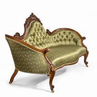 Elaborate Victorian Shaped Walnut Sofa (4 of 12)