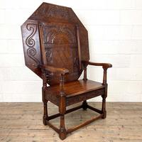 Large Early 20th Century Antique Oak Monk's Seat (2 of 10)