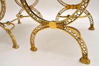 Pair of 1970's Vintage Brass Stools (9 of 9)