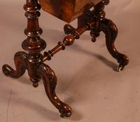 Good Victorian Ladies Sewing Table inlaid with castle ruins (2 of 10)