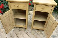 Nice Quality Old Stripped Pine Bedside Cabinets (5 of 9)