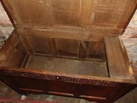 Jacobean Paneled Oak Coffer (5 of 7)