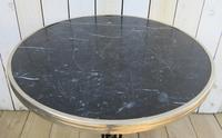 Art Deco Marble & Cast Iron Garden Bistro Table (2 of 7)
