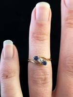 Vintage Art Deco Sapphire & Diamond Trilogy Ring (7 of 10)
