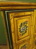 Vintage Indian Folk Art Bohemian Painted Cabinet Larder Linen Press Cupboard (8 of 13)