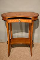 Satinwood Kidney Table Floral Marquetry (6 of 6)
