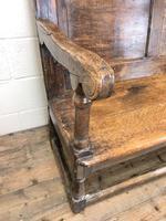 Large Antique Oak Settle (3 of 12)