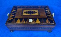Georgian Kingwood & Tunbridge Ware Table Box (5 of 14)