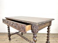 Antique 19th Century Carved Oak Table (9 of 11)