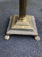 English Brass Corinthian Column Standard Lamp (2 of 6)