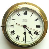 Superb Antique English Smiths Bulkhead Wall Clock 8 Day Ships Clock (4 of 11)