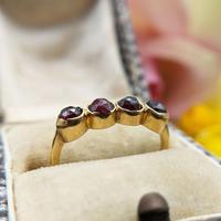 Vintage 18ct Gold Four Garnet Crystal Ring (4 of 9)