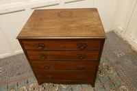Distressed Georgian Flame Mahogany Chest of Drawers (2 of 5)