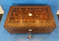 Victorian Inlaid Parquetry Rosewood Box (7 of 12)